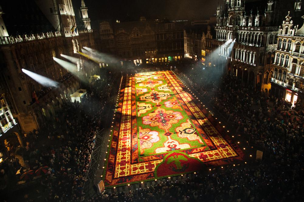 Tapis de fleur Bruxelles